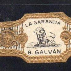 Vitolas de colección: VITOLA CLASICA: 121045, TEMA FAUNA, FELIDOS, B. GALVAN, LA GARANTIA, ISLAS CANARIAS (GRANDE). Lote 288324888