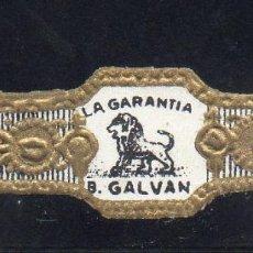 Vitolas de colección: VITOLA CLASICA: 121047, TEMA FAUNA, FELIDOS, B. GALVAN, LA GARANTIA, ISLAS CANARIAS (PEQUEÑA). Lote 288324983