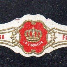 Vitolas de colección: VITOLA CLASICA: 122006, TEMA CORONAS, LA EXQUISITA, ISLAS CANARIAS, PEQUEÑA. Lote 288325033