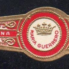 Vitolas de colección: VITOLA CLASICA: 122012, TEMA CORONAS, MARIA GUERRERO, CUBA. Lote 288325213