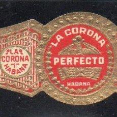 Vitolas de colección: VITOLA CLASICA: 122016, TEMA CORONAS, PERFECTO, LA CORONA, CUBA, ELABORADO A MAQUINA. Lote 288325368