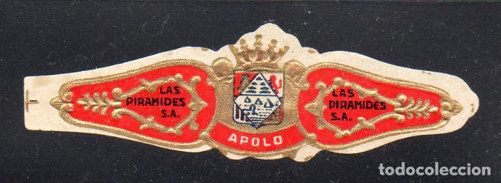 VITOLA CLASICA: 126015, LAS PIRAMIDES, APOLO, ISLAS CANARIAS. (Coleccionismo - Objetos para Fumar - Vitolas)
