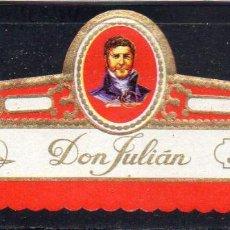 Vitolas de colección: VITOLA CLASICA: 162011, DON JULIAN Nº 1, ISLAS CANARIAS.. Lote 294018588