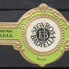 Vitolas de colección: VITOLA CLASICA: 162013, SEGUROS BADIELLA, LA FAMA, ISLAS CANARIAS.. Lote 294018693
