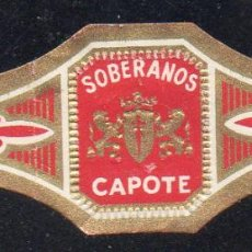 Vitolas de colección: VITOLA CLASICA: 162026, SOBERANOS, CAPOTE, ISLAS CANARIAS.. Lote 294019278