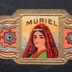 Vitolas de colección: VITOLA CLASICA: 163010, MUJERES U.S.A. MURIEL, TALON 2 9/16. Lote 294019628