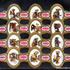 Vitolas de colección: STOMPKOP, AUTOMOVILES ANTIGUOS, GRAN FORMATO, 12 VITOLINAS, SERIE COMPLETA.. Lote 295270368