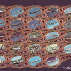 Vitolas de colección: STOMPKOP, AVIONES COMERCIALES, 24 VITOLAS, SERIE COMPLETA.. Lote 295270418