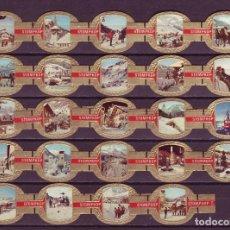 Vitolas de colección: STOMPKOP, ESTACIONES DE DEPORTES DE INVIERNO, ROJO, 24 VITOLAS, SERIE COMPLETA.. Lote 295270543