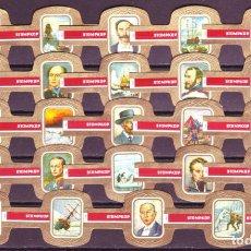 Vitolas de colección: STOMPKOP, LA CONQUISTA DEL POLO, 24 VITOLAS, SERIE COMPLETA.. Lote 295270863