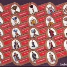 Vitolas de colección: STOMPKOP, ORDENES MILITARES, ROJO, 24 VITOLAS, SERIE COMPLETA.. Lote 295270943