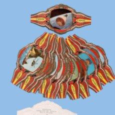 Vitolas de colección: SERIE COMPLETA DE 24 VITOLINAS - LA CONQUISTA DEL ESPACIO - MARCA PEDRO CAPOTE (CANARIAS). Lote 295364608