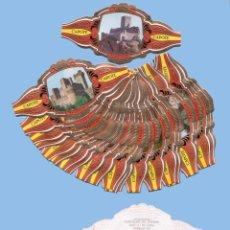Vitolas de colección: SERIE COMPLETA DE 24 VITOLINAS - CASTILLOS DE ESPAÑA SERIE A - MARCA TABACOS CAPOTE (CANARIAS). Lote 295365208