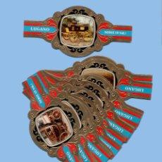 Vitolas de colección: SERIE COMPLETA DE 24 VITOLINAS - CARROZAS SERIE 19 - MARCA LUGANO (HOLANDA). Lote 295366843