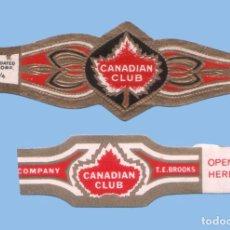 Vitolas de colección: 2 VITOLAS ANTIGUAS - MARCA CANADIAN CLUB (USA) - TEMÁTICA HOJAS Y PLANTAS. Lote 295906313