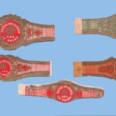 Vitolas de colección: 5 VITOLAS ANTIGUAS - MARCA ROSAS DE ESPAÑA (CANARIAS) - TEMÁTICA FLORES - ROSAS. Lote 295907348