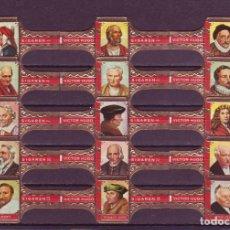 Vitolas de colección: VICTOR HUGO, LITERATOS, SERIE A, 15 VITOLAS, SERIE COMPLETA.. Lote 296810593