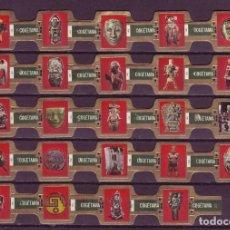 Vitolas de colección: COGETAMA, CULTURA AZTECA, 24 VITOLAS, SERIE COMPLETA.. Lote 296813488