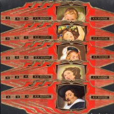 Vitolas de colección: RUBENS, FRAGMENTOS DE RUBENS, SERIE 1ª, GRAN FORMATO, ROJO, 20 VITOLINAS, SERIE COMPLETA.. Lote 296814038