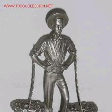 Coleccionismo: PEQUEÑA ESCULTURA DE METAL EL CENACHERO DE MALAGA SOBRE MARMOL. Lote 13438307