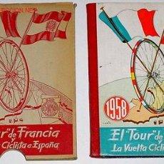 Coleccionismo: EL TOUR DE FRANCIA Y LA VUELTA CICLISTA A ESPAÑA 1958 - RARISIMO ¡¡¡¡¡. Lote 27488715