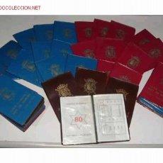 Coleccionismo: LOTE DE 50 CARTERAS DE JUAN CARLOS I REY DE ESPAÑA,SERIE NUMISMATICA.AÑO 80. Lote 732317
