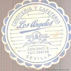 Coleccionismo: POSAVASOS DE CONFITERÍA - CAFETERÍA LOS ANGELES, SEVILLA.. Lote 3628447