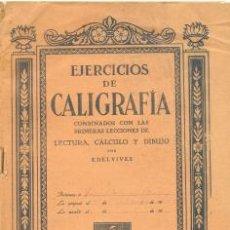Coleccionismo: EJERCICIOS DE CALIGRAFIA. EDELVIVES ............1940. Lote 16629716