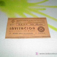 Coleccionismo: INVITACION BAILE DE LA LUZ 1947 MANRESA. Lote 4266562