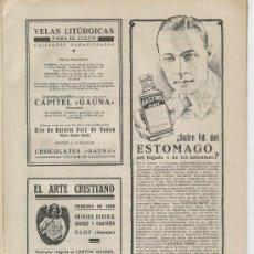 Coleccionismo: HOJA PUBLICITARIA DE ARTE CRISTIANO. VAYREDA . BASSOLS. CASABO. OLOT. 1929. Lote 4348780