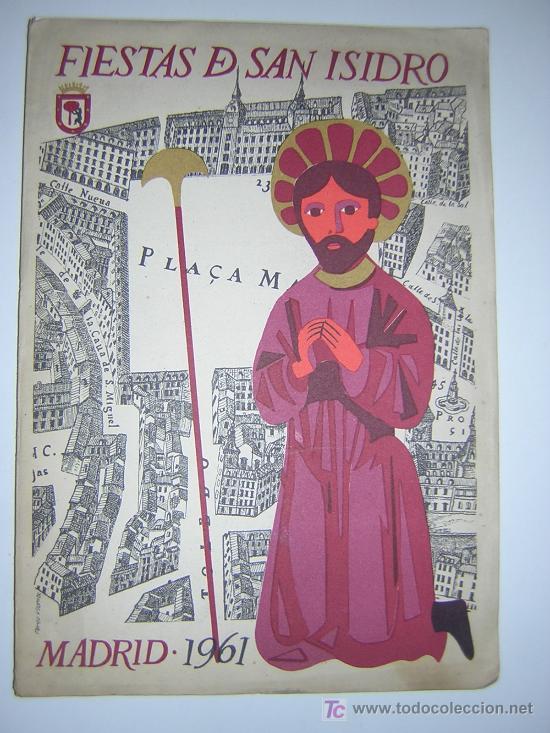 PROGRAMA DE FIESTAS SAN ISIDRO MADRID AÑO 1961 (Coleccionismo - Laminas, Programas y Otros Documentos)