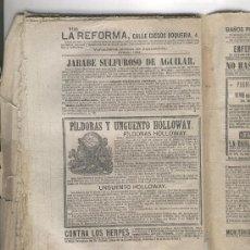 Coleccionismo: HOJA PUBLICITARIA. AÑO 1877. PILDORAS Y UNGUENTO HOLLOWAY. MEDICINA. FARMACIA. Lote 5057207