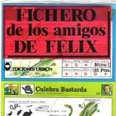 Coleccionismo: FICHERO DE LOS AMIGOS DE FELIX - NUMERO 11 A ESTRENAR. Lote 5911032