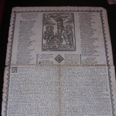 Coleccionismo - GOIGS DOLOROSOS STA IMATGE DEL ST CRISTO DEL HOSPITAL GENERAL SANTA CREU BARCELONA.SXVIII.BARCELONA - 5938002