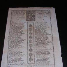 Coleccionismo - GOIG DOLOROSO ST IMATGE CRISTO HOSPITAL GENERAL DE STA CREU BARCELONA.S XVIII. - 5938314
