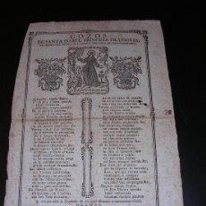 Coleccionismo: GOZOS STA ISABEL PRINCESA HUNGRIA VENERABLE ORDEN TERCERO N.P.S FRANCISCO.SXVIII BARCELONA.. Lote 6094055