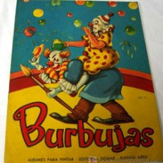 Coleccionismo: CUADERNO PINTAR COLOREAR ALBUMES BURBUJAS EDITORIAL SIGMAR 1962 SIN USAR. Lote 21810326