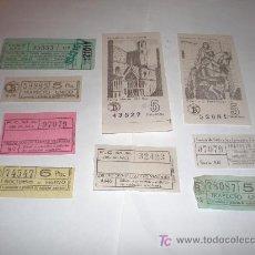 Coleccionismo: LOTE DE 9 BILLETES DIVERSOS. Lote 17488295