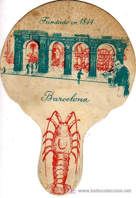 PAY-PAY DEL RESTAURANTE 7 PUERTAS DE BARCELONA-VIEJO-FUNDADO EN 1844 (Coleccionismo - Laminas, Programas y Otros Documentos)