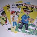 Coleccionismo: 4 CUADERNOS PARA COLOREAR. SERIE PINTANDO EN... NUEVOS!!! AÑO 1981!!! 18X26 CMS.. Lote 25178669