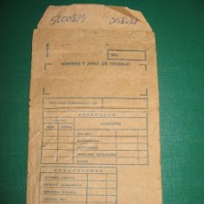 Coleccionismo: SOBRE NOMINA BANCO CENTRAL CUBA. Lote 27128299