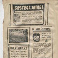 Coleccionismo: HOJA PUBLICIADA. 1928. EL ARTE CRISTIANO. ESTATUARIA RELIGIOSA. OLOT. GIRONA. . Lote 7411740