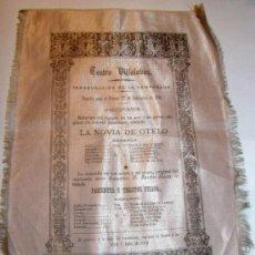 Coleccionismo: CARTEL DE TEATRO AÑO 1894. Lote 27564213