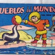 Coleccionismo: CUADERNO COLOREAR CON ACUARELAS PUEBLOS DEL MUNDO N 512 DIBUJOS MÁGICOS ED SIGMAR BUENOS AIRES 1962. Lote 8120574