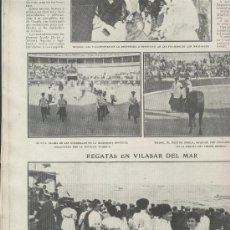 Coleccionismo: RECORTE DE PRENSA. . AÑO 1908. REGATAS EN VILASAR DE MAR. VILASSAR DE MAR. VILASSA.VILASA.. Lote 20495113