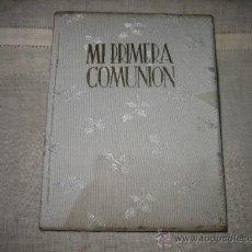 Coleccionismo: PRIMERA COMUNION ANTIGUO LIBRITO PARA ANOTACIONES DEL EVENTO FECHA ,COLEGIO REGALOS. Lote 8570797