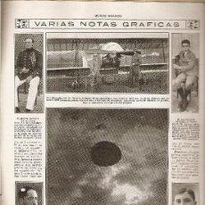 Coleccionismo: HOJA REPORTAJE.AÑO 1919.PARACAIDISMO.FORQUIN.SAN SEBASTIAN.. Lote 8786309