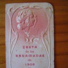 Coleccionismo: PROGRAMA DE BAILE MODERNISTA DE 1908 - FESTA DE LAS ENRAMADAS - VILASSAR DE MAR. Lote 26737420