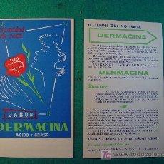 Coleccionismo: JABON DERMACINA - LABORATORIOS PIKRA - VALENCIA - TARJETA PUBLICITARIA -. Lote 98737646