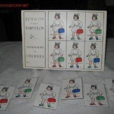 Coleccionismo: BONITO JUEGO AÑOS 30-40, DIFERENCIACION DE COLORES ,PARA PARVULOS. Lote 27097086
